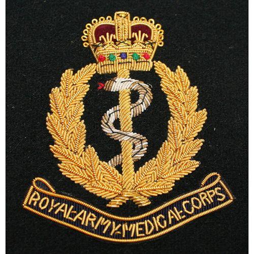 RAMC Wire Blazer Badge E11R