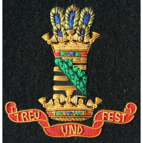 11th Hussars Wire Blazer Badge