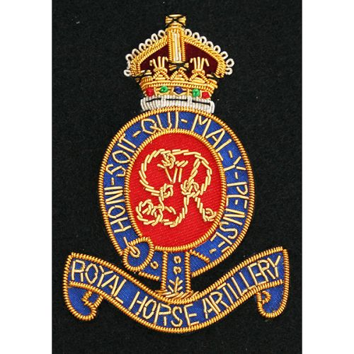 Royal Horse Artillery Blazer Badge, Kings Troop, Wire