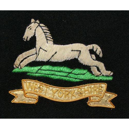 West Yorkshire Regiment Wire Blazer Badge