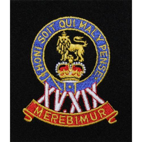 15th/19th King's Hussars Silk Blazer Badge