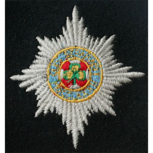 Irish Guards Blazer Badge, Silk