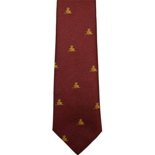 RA Gold Gun On Maroon Tie