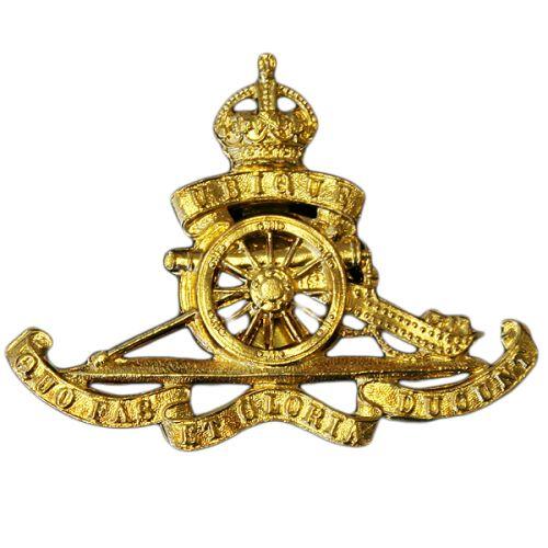 Royal Artillery Cap Badge, GV1R