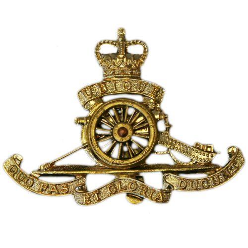 Royal Artillery Cap Badge, E11R, Moving Wheel