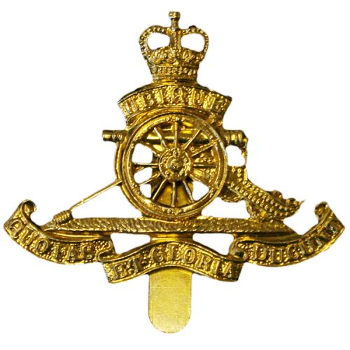 Royal Artillery Beret Badge, E11R, Brass