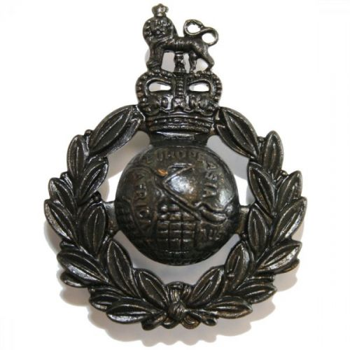 Royal Marines Beret Badge, E11R, Bronze