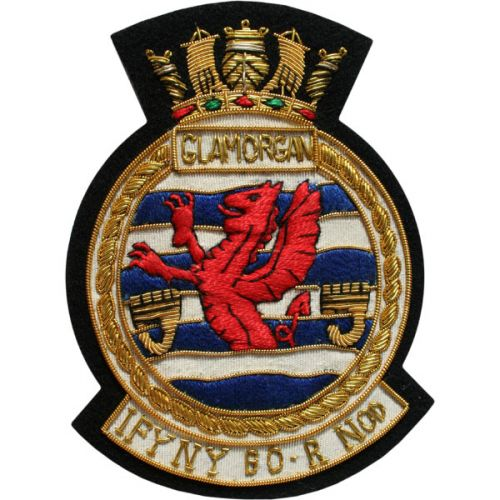 HMS Glamorgan Blazer Badge, Wire