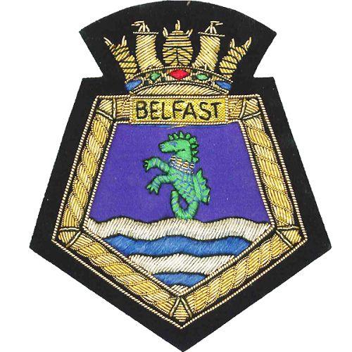 HMS Belfast Blazer Badge, Wire