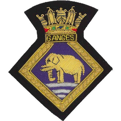 HMS Ganges Blazer Badge
