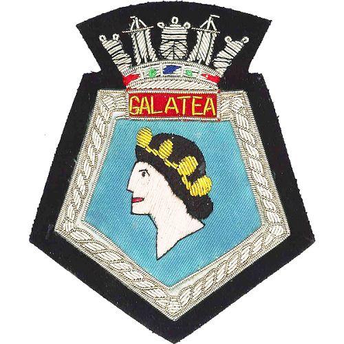 HMS Galatea Blazer Badge