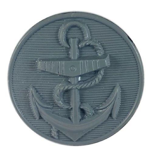 Dark Grey Nylon Anchor Button (36l)
