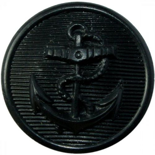 Black Anchor Button (24L)