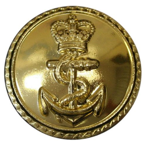 Royal Navy Button, Anodised, Long Shank (26L)