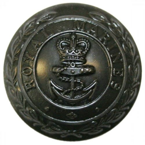 Royal Marines Button, Bronzed (27L)