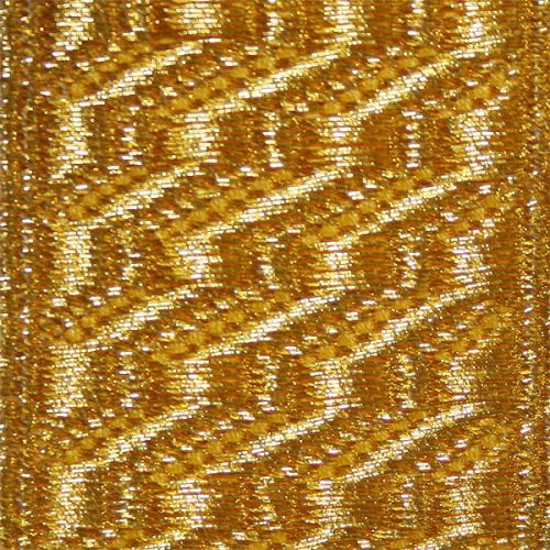 Gold Mylar B & S Lace (25mm)