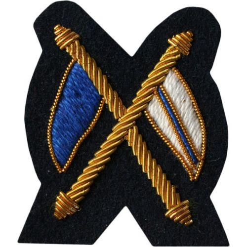 Signaller Gold On Navy Badge