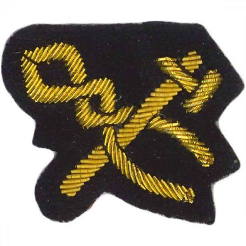 Craftsman Gold On Navy Badge H&T