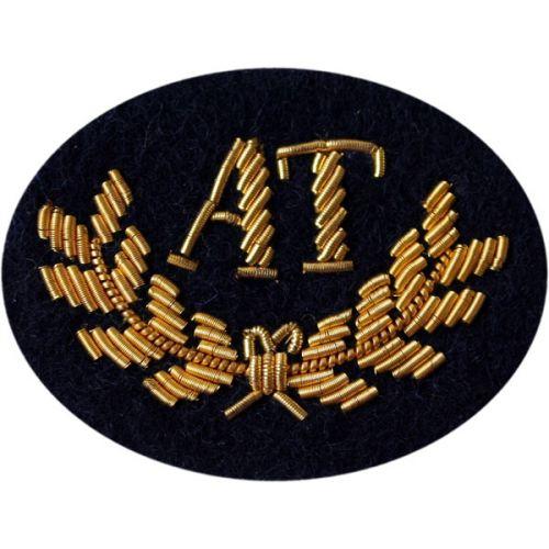 Anti-Tank Gold On Navy Badge