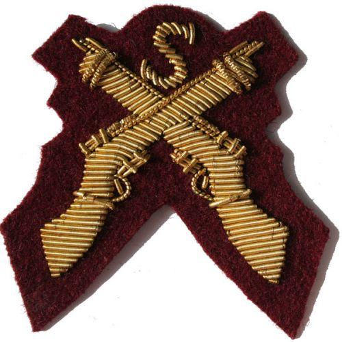 Sniper Gold On PARA Maroon Badge