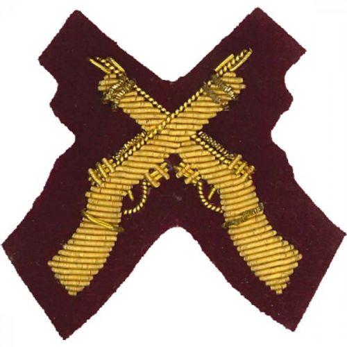 Skill At Arms Gold On PARA Maroon Badge