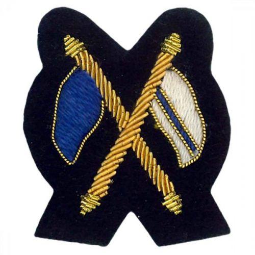 Signaller Gold On Kings Green Badge
