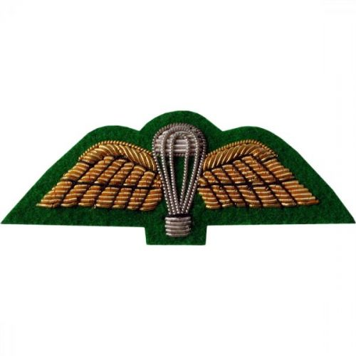 Parachute & Wings Gold On Intelligence Corps Green