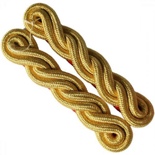 Shoulder Cords Gold 2 Ply Scarlet