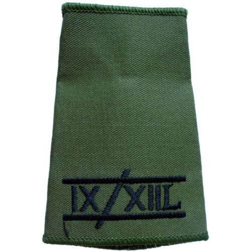 9th/12th Lancers Rank Slides, Olive Green, (Unranked)