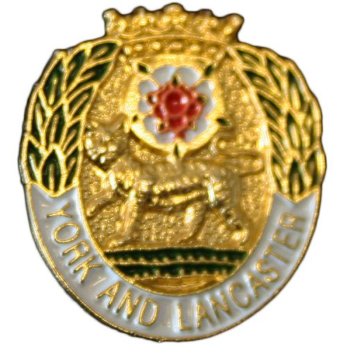 York & Lancaster Regiment Lapel Badge