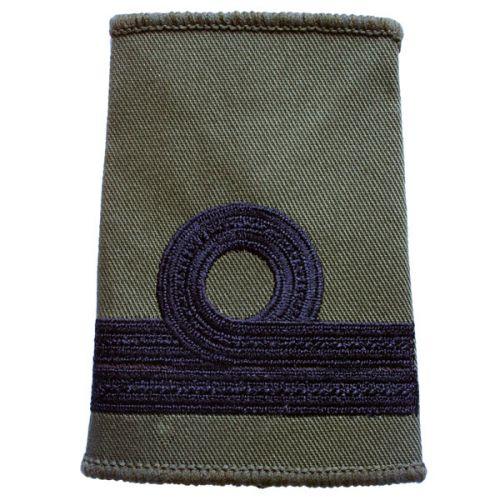 RN Rank Slides, Olive Green, (Commander)