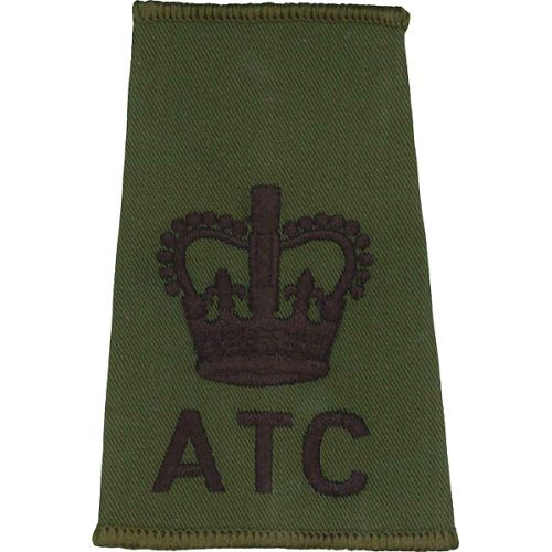 ATC Rank Slides, Olive Green, (WO), Crown