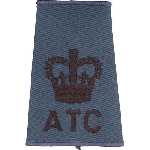 ATC Rank Slides, RAF Blue, (WO), Crown