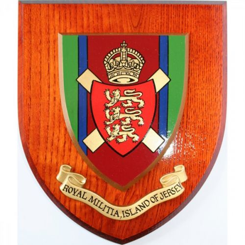 Royal Jersey Militia Wall Plaque