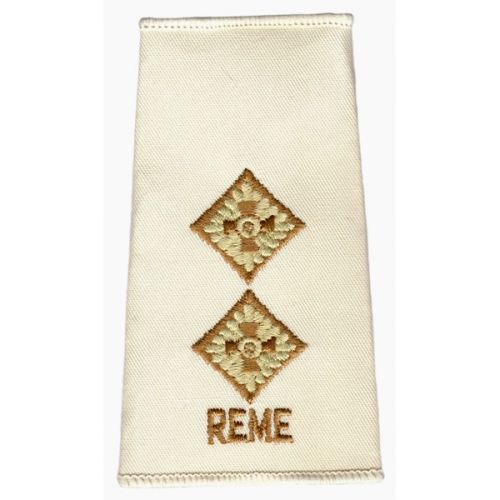 REME Rank Slides, Cream, (Lt)