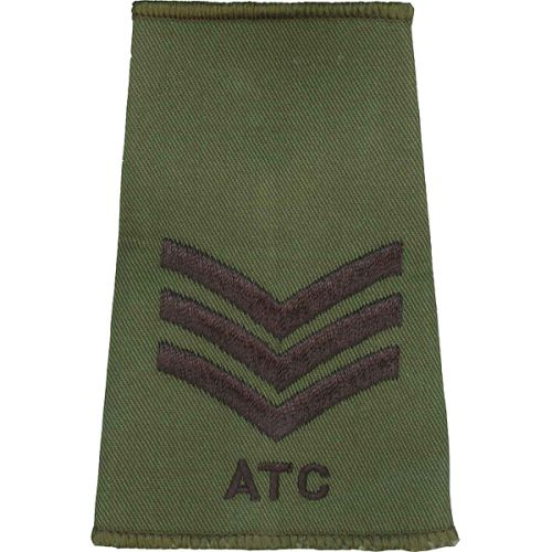ATC Rank Slides, Olive Green, (Sgt)