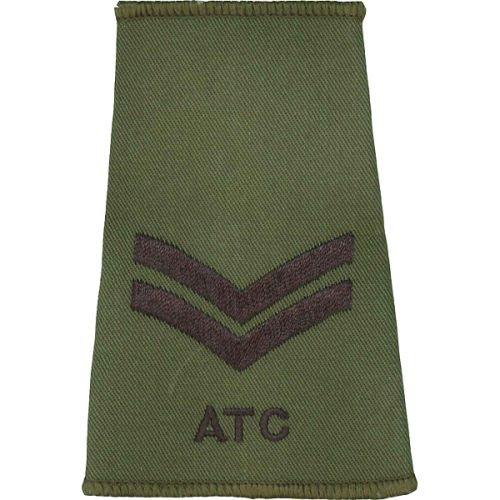 ATC Rank Slides, Olive Green, (Cpl)