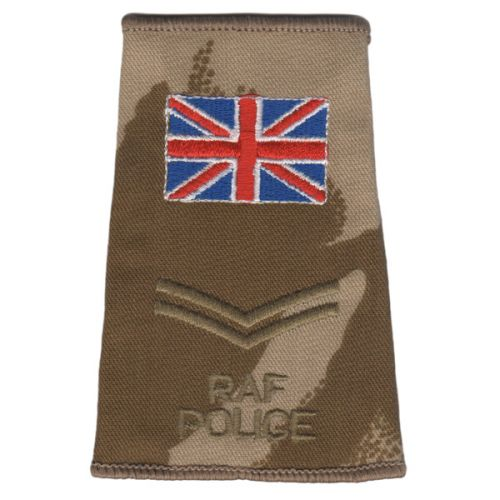 RAF Rank Slides, Desert, (Cpl), Police UK