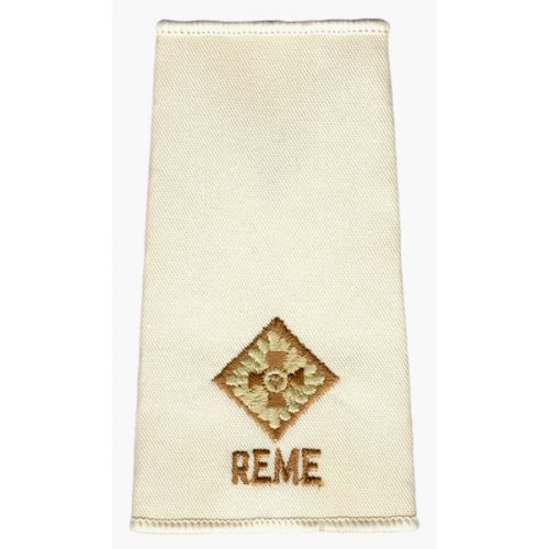 REME Rank Slides, Cream, (2/Lt)