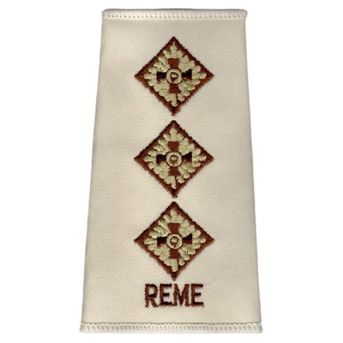 REME Rank Slides, Cream, (Capt)