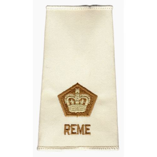 REME Rank Slides, Cream, (Maj)