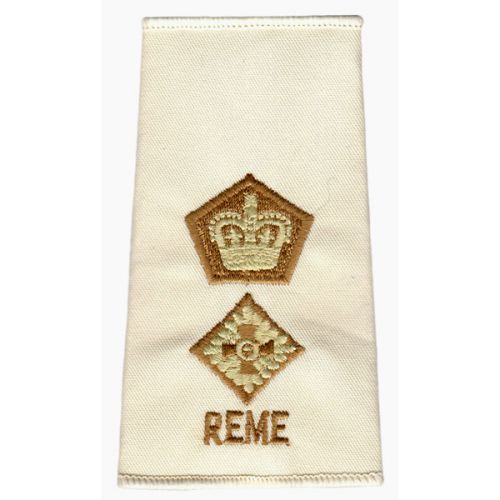 REME Rank Slides, Cream, (Lt/Col)