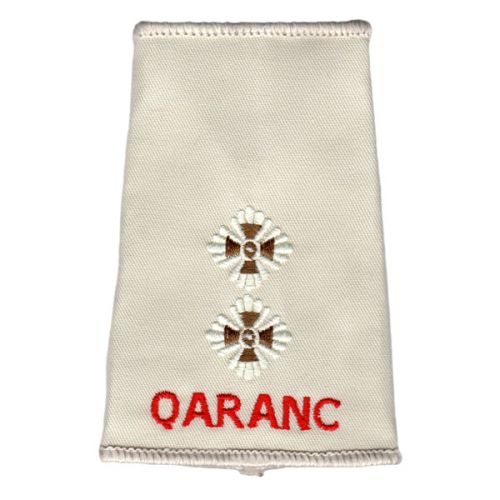 QARANC Rank Slides, Cream, (Lt)