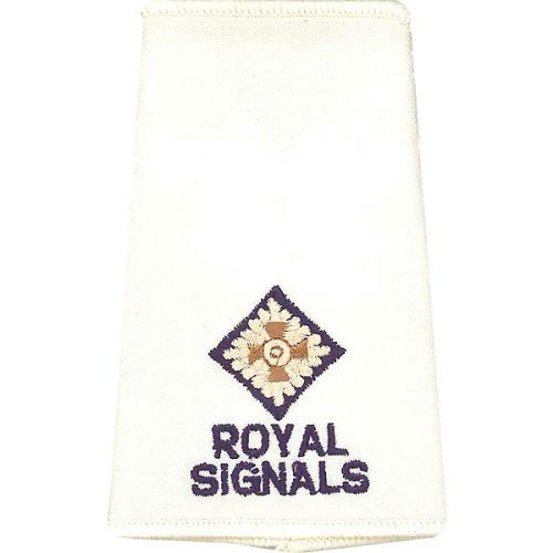 R SIGS Rank Slides, Cream, (2/Lt)