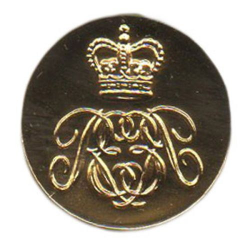 Royal Engineers Assosiation Cypher Button, Indented, Blazer (32L)