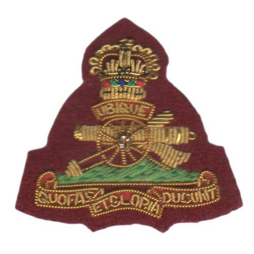 Royal Artillery Beret Badge, Officers, on PARA