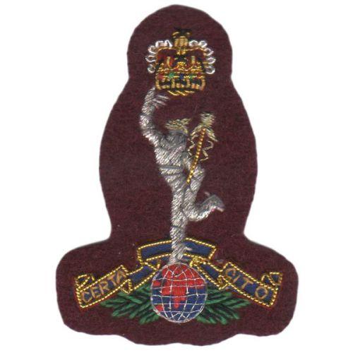 Royal Signals Beret Badge, Maroon