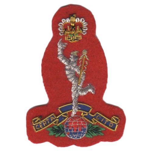 Royal Signals Beret Badge, Red