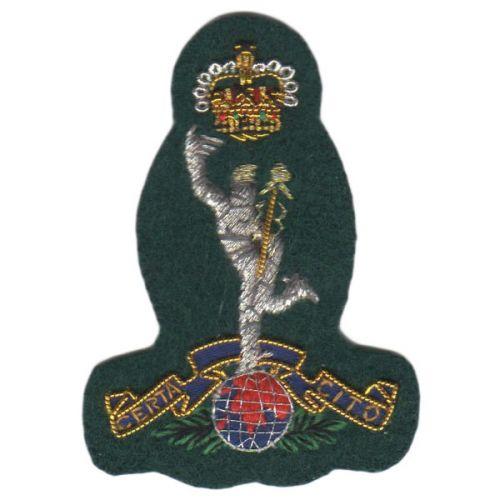 Royal Signals Beret Badge, Green