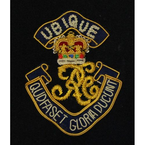 Royal Engineers Blazer Badge, Cypher, Wire